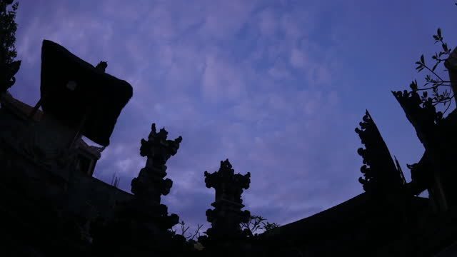 night sky and clouds in ubud district / bali, indonesia - ubud district stock videos & royalty-free footage