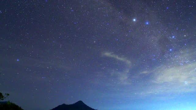 night sky / bali, indonesia - crepuscolo video stock e b–roll
