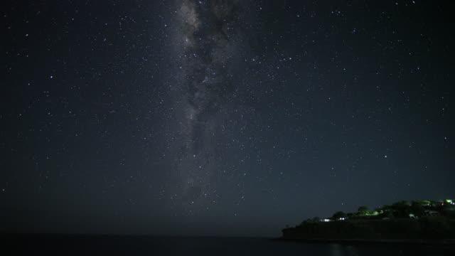night sky in lamalela village / indonesia - astronomy stock videos & royalty-free footage