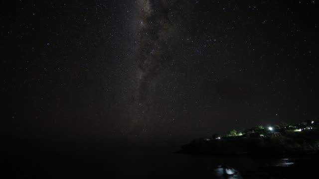 night sky in lamalela village / indonesia - フロレス点の映像素材/bロール