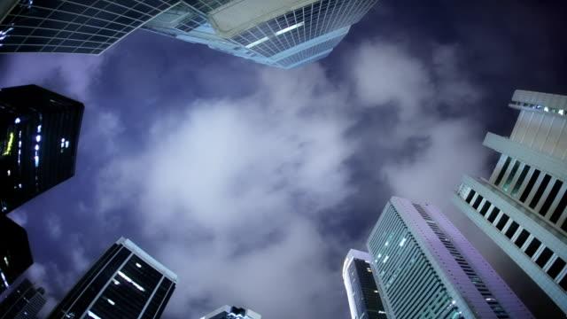Night sky in the city.