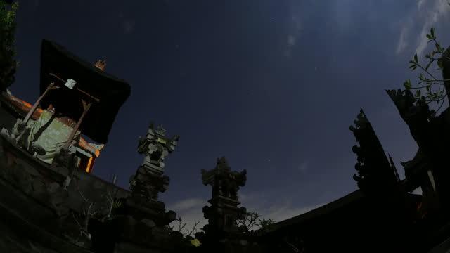 night sky in ubud district / bali, indonesia - ubud district stock videos & royalty-free footage
