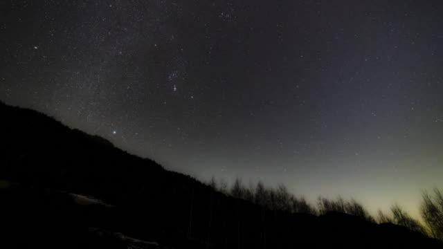 vídeos de stock, filmes e b-roll de night sky / inje-gun, gangwon-do, south korea - espaço e astronomia