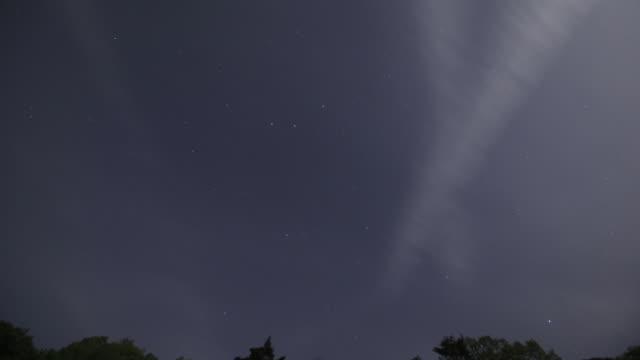 night sky of geumodo island / yeosu, jeollanam-do province, south korea - jeollanam do stock videos & royalty-free footage