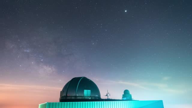 vidéos et rushes de night sky of observatory / geochang-gun, gyeongsangnam-do, south korea - météore