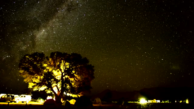 t/l night sky over the sesriem campsite - 4x4 stock videos & royalty-free footage