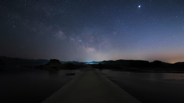 night sky scenery / andong-si, gyeongsangbuk-do, south korea - footpath stock videos & royalty-free footage