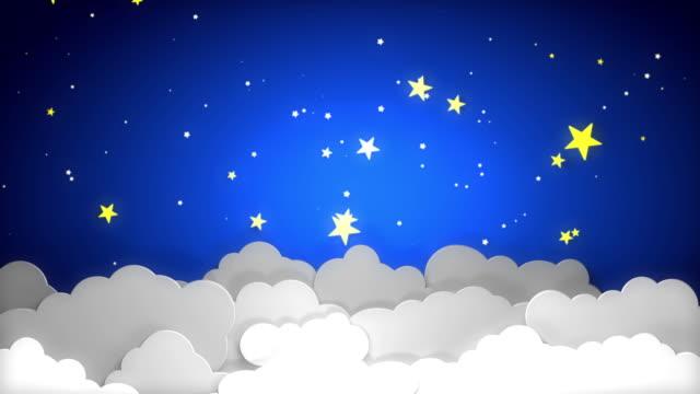 vídeos de stock, filmes e b-roll de céu nocturno - fofo descrição geral