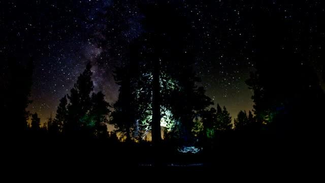 vídeos y material grabado en eventos de stock de night cielo - parque nacional de secoya
