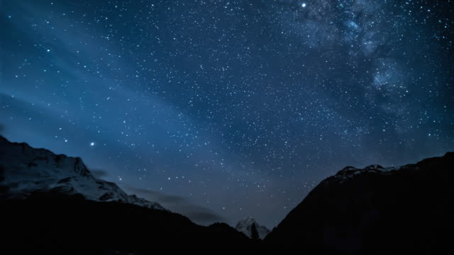 night sky with star timelapse - astronomy stock videos & royalty-free footage