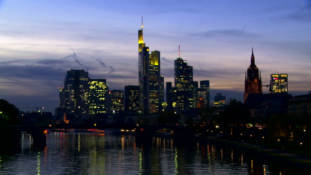 Night Skyline Of Frankfurt Am Main