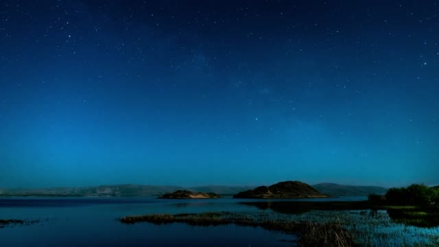 vídeos y material grabado en eventos de stock de lapso de tiempo de la noche de las estrellas - espacio y astronomía