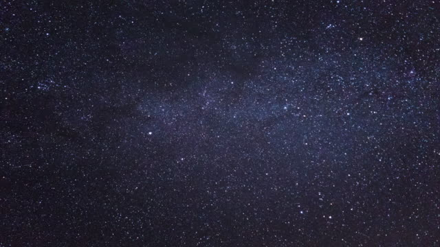Night Stars Time Lapse with Meteor shower