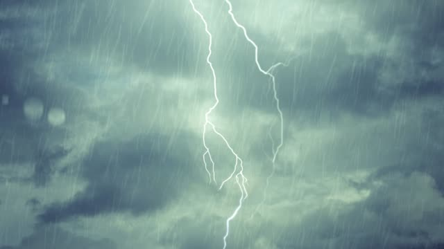 night storm rain lightening with drops on window - storm cloud stock videos & royalty-free footage