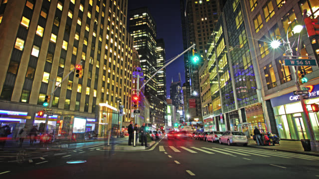 Night street Broadway to Time Square