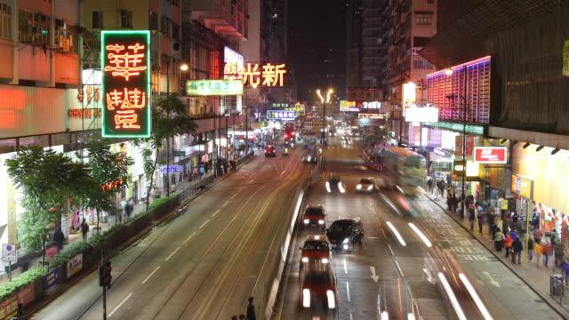 T/L WS HA ZO Night street scene / Hong Kong, China