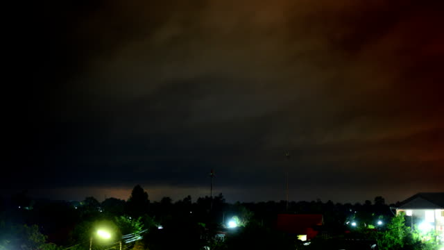 Night Thunderstorm Time Lapse.