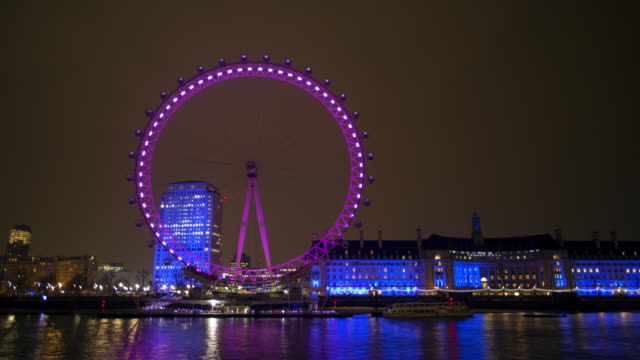 WS night time lapse of London eye