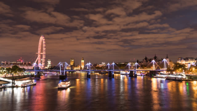 LONDON - Night Time Lapse of Westminster