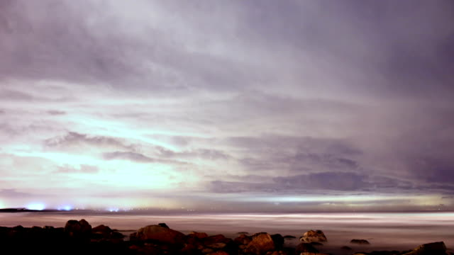 night time long exposure timelapse - cape town stock videos & royalty-free footage