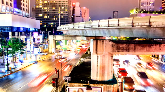 night time of siam square in bangkok ,thailand. - times square causeway bay stock videos & royalty-free footage
