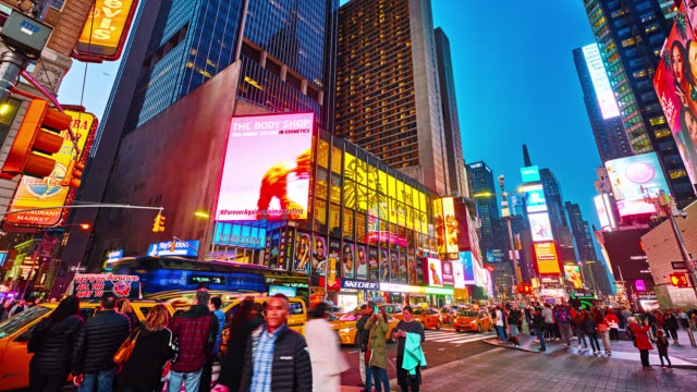 night time square - digital signage stock videos and b-roll footage