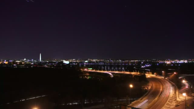 night time time lapse of washington d.c. - activity stock videos & royalty-free footage
