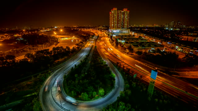 night time transportation road - penang stock videos and b-roll footage