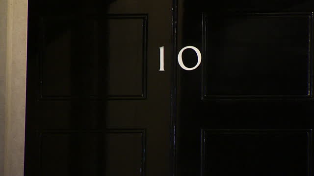 night time view of downing street - house stock videos & royalty-free footage