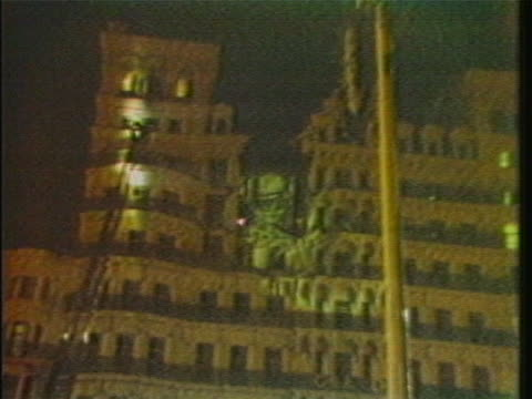 night time view of the grand brighton hotel exterior, following the detonation of a long-delay timebomb that was planted by the provisional ira. the... - bomb stock videos & royalty-free footage
