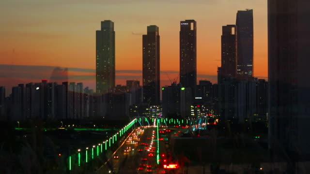 Night time views of Incheon South Korea