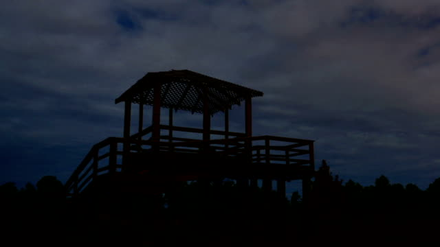 Night Time-Lapse of Observation Tower