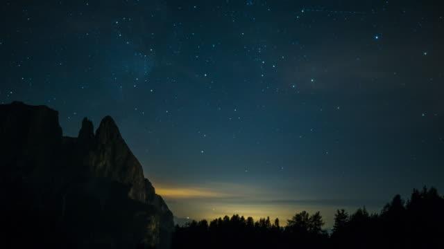 night timelapse - meraviglie della natura video stock e b–roll