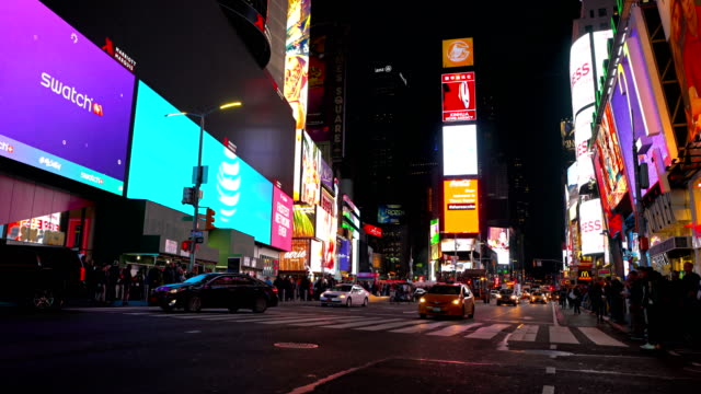 night times square - times square manhattan stock videos & royalty-free footage