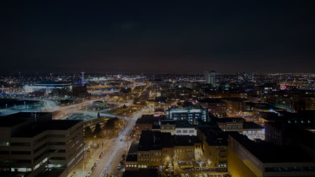 Night to dawn Denver timelapse