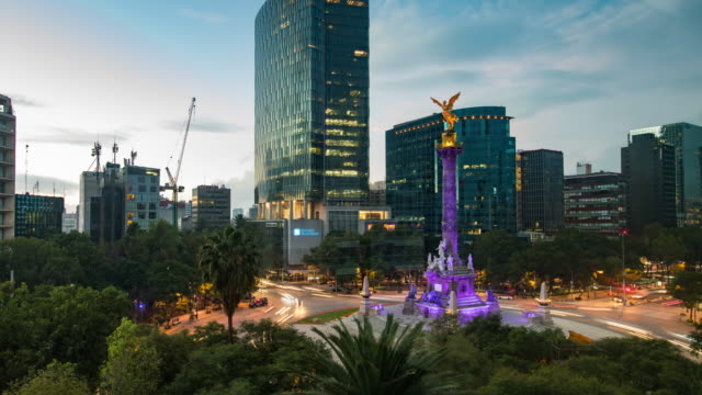 vídeos de stock e filmes b-roll de night to day mexico city time lapse - cidade do méxico
