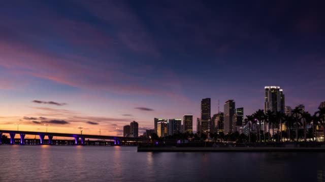 night to day time lapse of miami - miami stock-videos und b-roll-filmmaterial