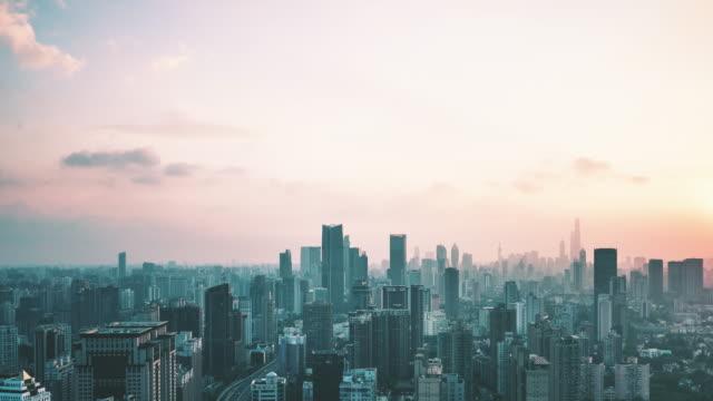 Nuit au laps de temps de jour de Shanghai en Chine