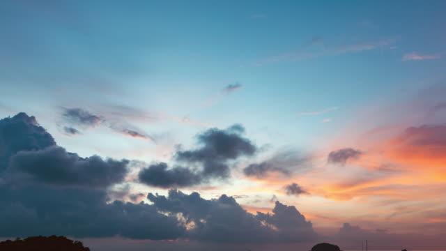 美しいリペ島の一日の時間経過する夜。 - 遅い点の映像素材/bロール