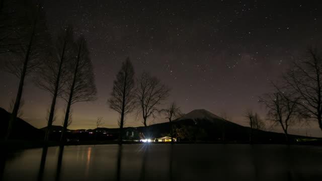 vidéos et rushes de nuit 4k à day time-lapse: fujisan sunrise fumoto para camping - préfecture de yamanashi