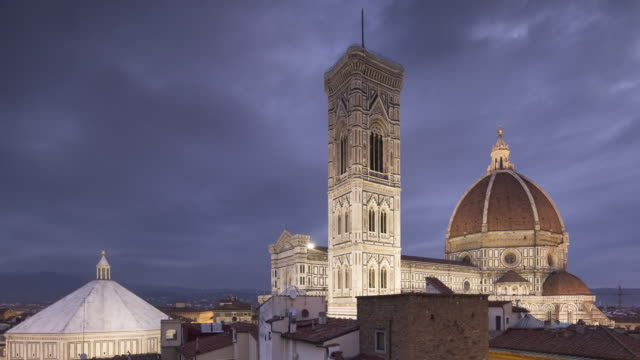night to day tl of basilica di santa maria del fiore otherwise known as the duomo in florence, tuscany, italy. - florence stock videos and b-roll footage