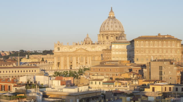 ZO Night to day TL of St Peter's Basilica in the Vatican City.