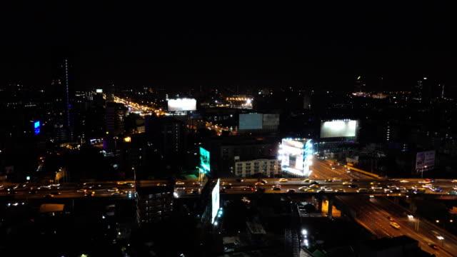 night traffic car in bangkok city - bugtiger stock videos and b-roll footage