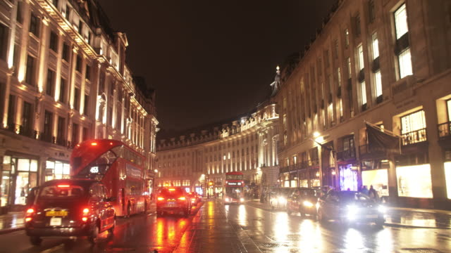 Nachtverkehr In London-Regent Street South End