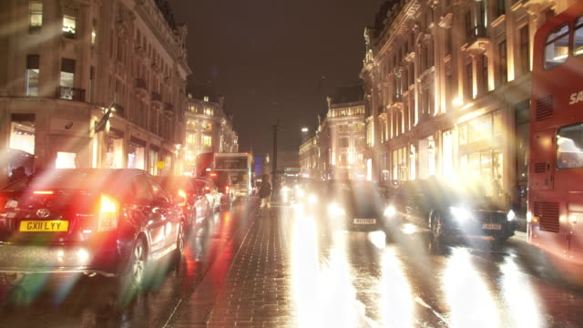 Night Traffic in London Regent Street