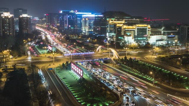 T/L WS HA PAN Night Traffic of Beijing