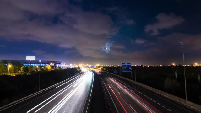 Night Traffic Time Lapse