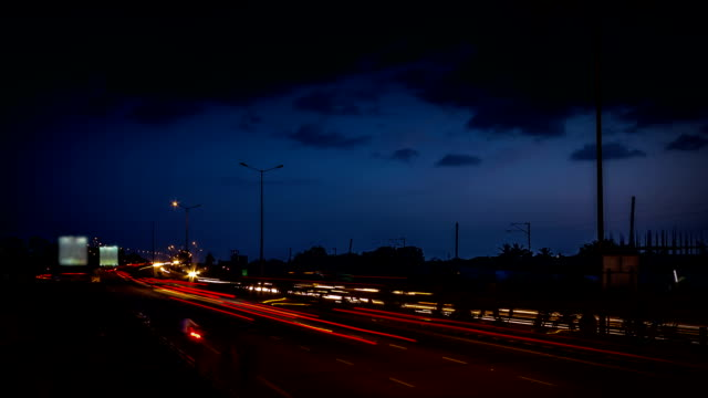 night traffic timelapse - bangalore stock videos and b-roll footage