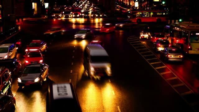 stockvideo's en b-roll-footage met night traffic - commercieel landvoertuig