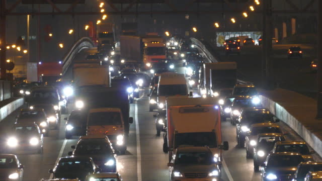 russia. moscow - 2015: night traffic - traffic jam stock videos & royalty-free footage